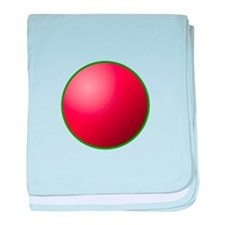 festival circle red baby blanket