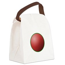 festival circle red Canvas Lunch Bag
