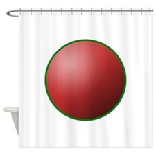 festival circle red Shower Curtain