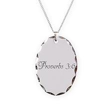 Unique Proverbs 3 Necklace