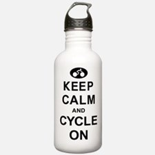 Keep Calm and Cycle On Sports Water Bottle