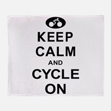 Keep Calm and Cycle On Throw Blanket