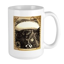 Caballero Cat 2, fancy sepia Mug