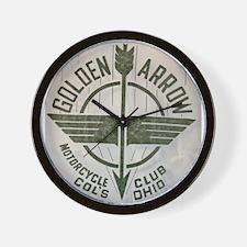 Golden Arrow Motorcycle Club Wall Clock