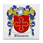 Vilanova Coat of Arms Tile Coaster