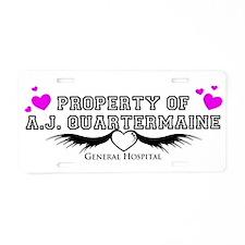 Property of AJ Quartermaine Aluminum License Plate