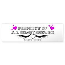 Property of AJ Quartermaine Bumper Bumper Sticker