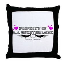 Property of AJ Quartermaine Throw Pillow
