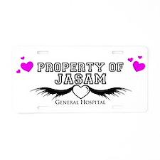 Property of Jasam Aluminum License Plate