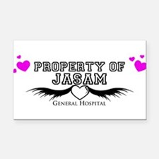 Property of Jasam Rectangle Car Magnet