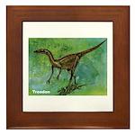 Troodon Dinosaur Framed Tile