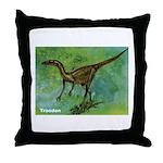 Troodon Dinosaur Throw Pillow