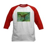 Troodon Dinosaur (Front) Kids Baseball Jersey