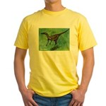 Troodon Dinosaur Yellow T-Shirt