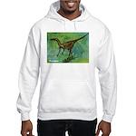Troodon Dinosaur (Front) Hooded Sweatshirt