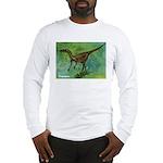 Troodon Dinosaur (Front) Long Sleeve T-Shirt