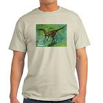 Troodon Dinosaur (Front) Ash Grey T-Shirt