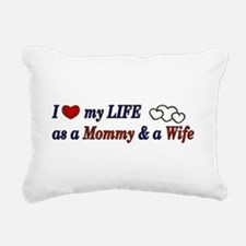 Life as Mommy & Wife Rectangular Canvas Pillow