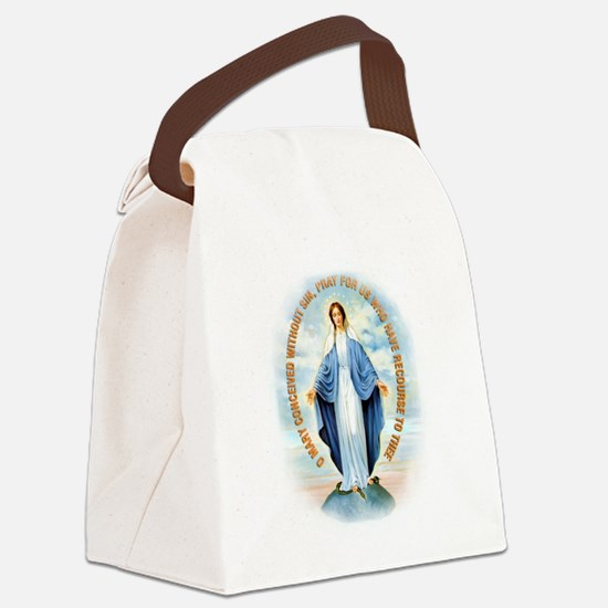 Miraculous Medal Canvas Lunch Bag