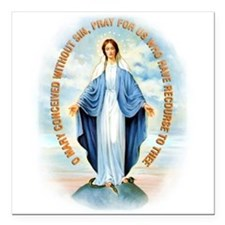 "Miraculous Medal Square Car Magnet 3"" x 3"""