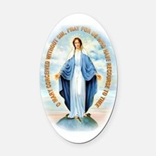 Miraculous Medal Oval Car Magnet
