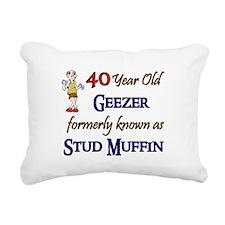 40 Year Old Geezer Rectangular Canvas Pillow