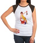 Santa's Hot Number Women's Cap Sleeve T-Shirt