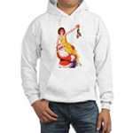 Santa's Hot Number Hooded Sweatshirt