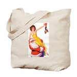 Santa's Hot Number Tote Bag