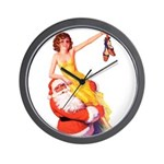 Santa's Hot Number Wall Clock
