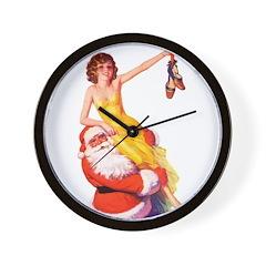 Santa's Hot Number Wall Clock