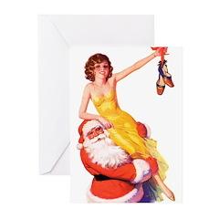 Santa's Hot Number Greeting Cards (Pk of 10)