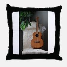 Baritone Ukulele Throw Pillow