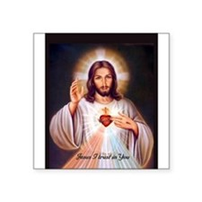 SacredHeart_lg_speckled_transp.png Square Sticker