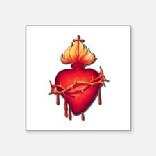 "Sacred Heart (only) Square Sticker 3"" x 3"""