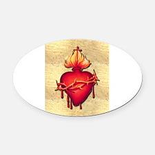 Sacred Heart (only) Oval Car Magnet