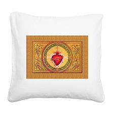 Sacred Heart (artwork) Square Canvas Pillow