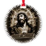 KingofKings_transp.png Round Ornament