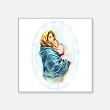 "Madonna of the Streets Square Sticker 3"" x 3"""