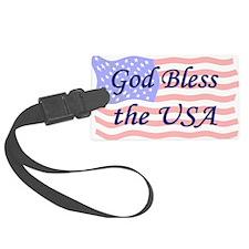 God Bless the USA Luggage Tag
