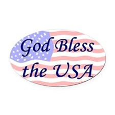 God Bless the USA Oval Car Magnet