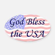 God Bless the USA Oval Car Magnet