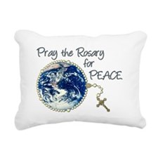 Rosary4World_png.png Rectangular Canvas Pillow