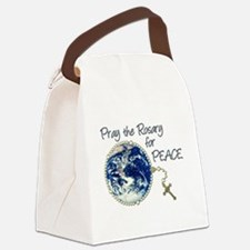 Pray the Rosary for Peace Canvas Lunch Bag