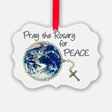 Pray the Rosary for Peace Ornament