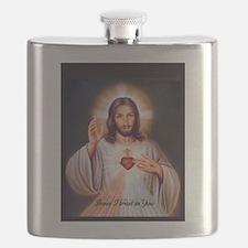 Funny Catholic Flask