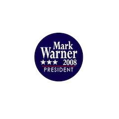 Mark Warner 2008 Mini Button