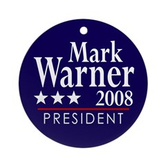 Mark Warner 2008 Ornament (Round)