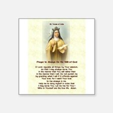 "St. Teresa of Avila Square Sticker 3"" x 3"""