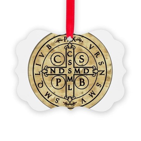 StBenMedal_fordark.png Picture Ornament